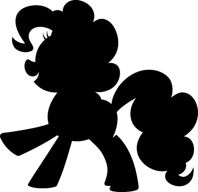 clipart library download My little pony clipart black and white. Silhouette at getdrawings com