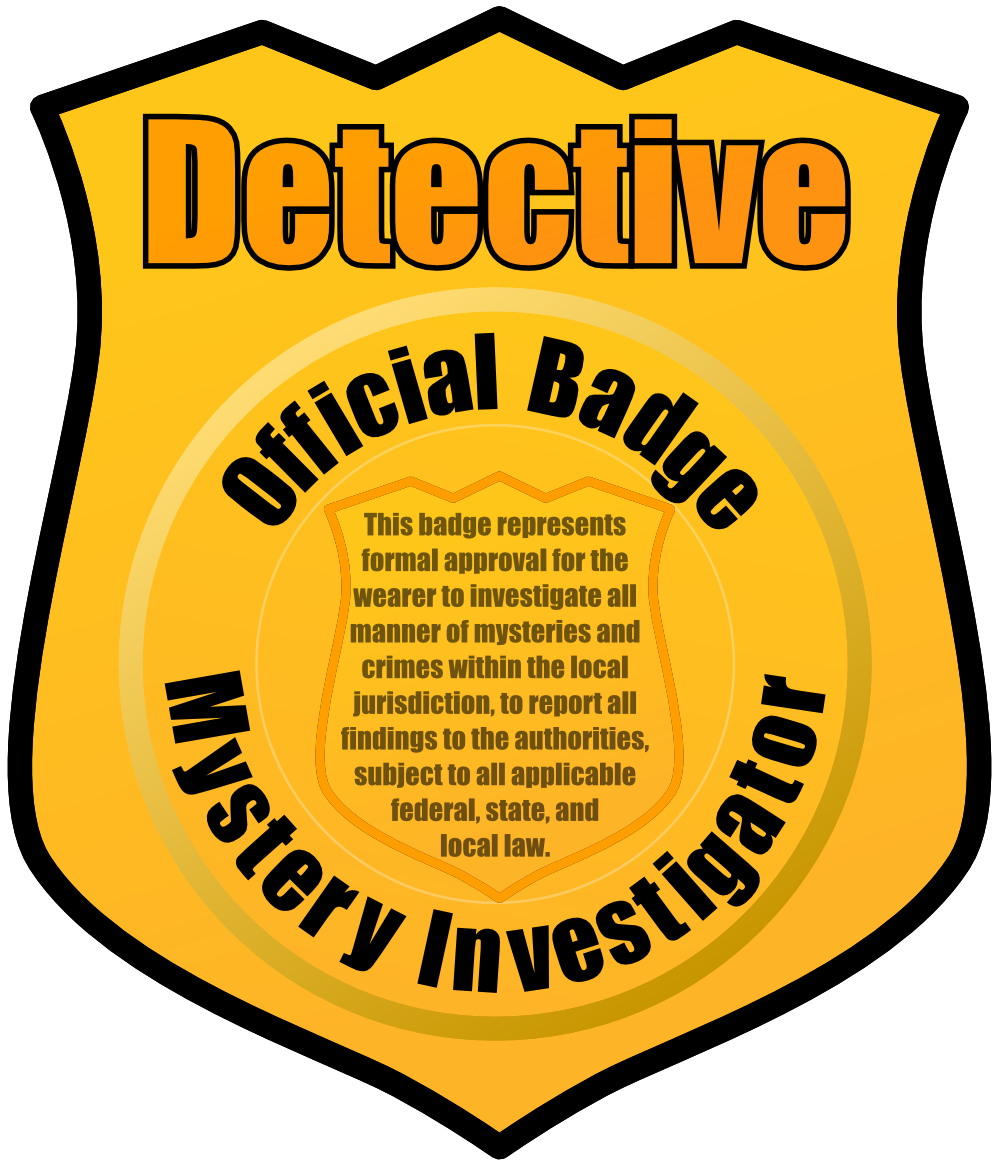 graphic royalty free library Cop badge clipart. Detective student frames illustrations