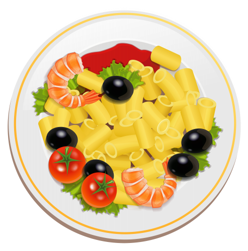 svg transparent download Pasta with Shrimps PNG