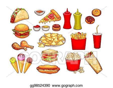 banner freeuse Nacho clipart drink. Vector art fast food.