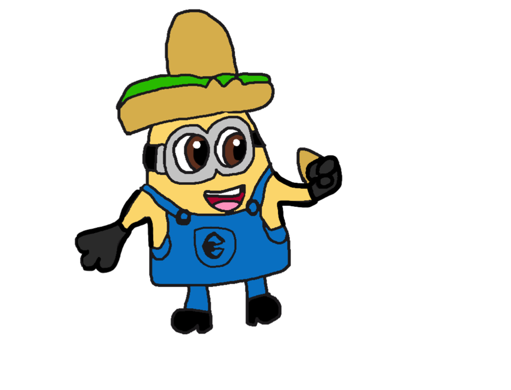 graphic library library Despicable me minion hat. Nacho clipart party.