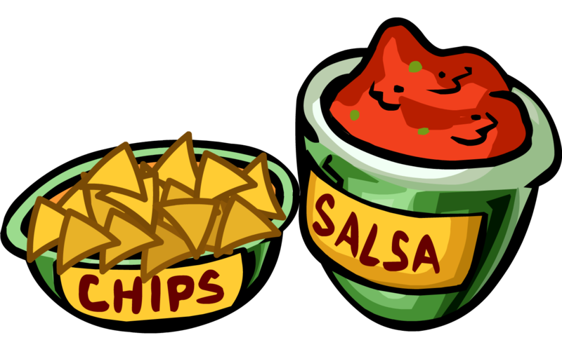 jpg freeuse library Image png club penguin. Chips and salsa clipart.
