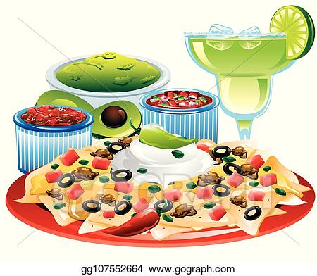 graphic transparent Nachos clipart meal. Vector art mexican nacho.