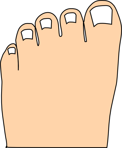 jpg black and white Nails clipart toe