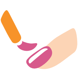 clipart royalty free download Emoji android polish . Nail clipart.