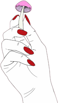 jpg transparent library hand tumblr grunge edgy aesthetic nails nail red black