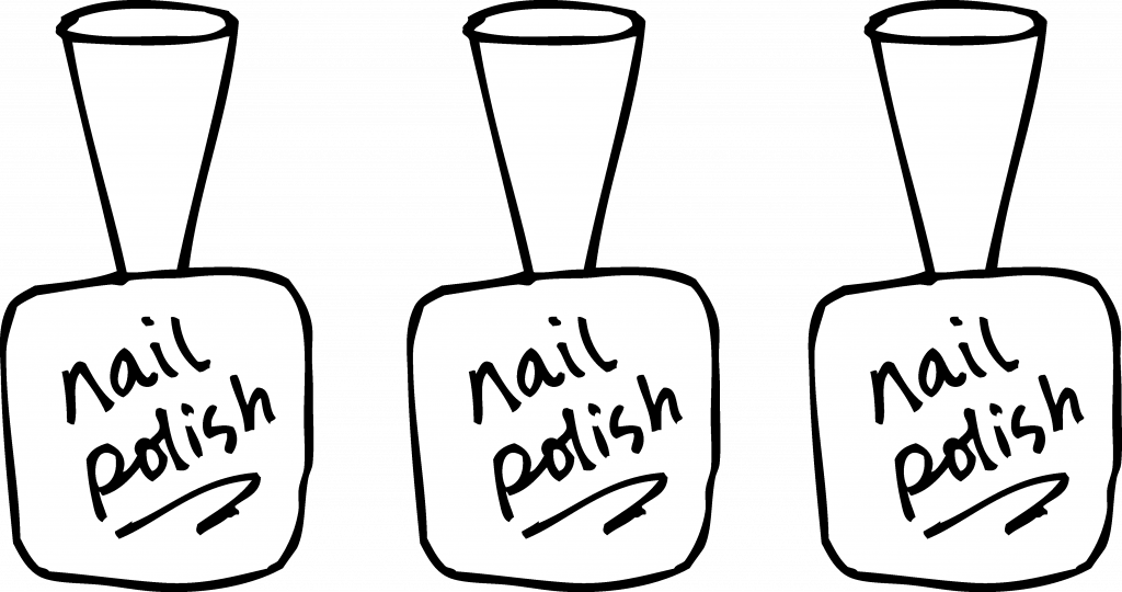 transparent Nail Polish Coloring Page