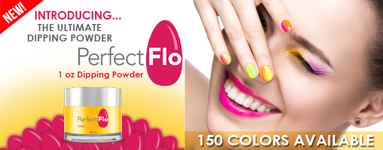 graphic black and white SNS Perfect Flo Dipping Powder