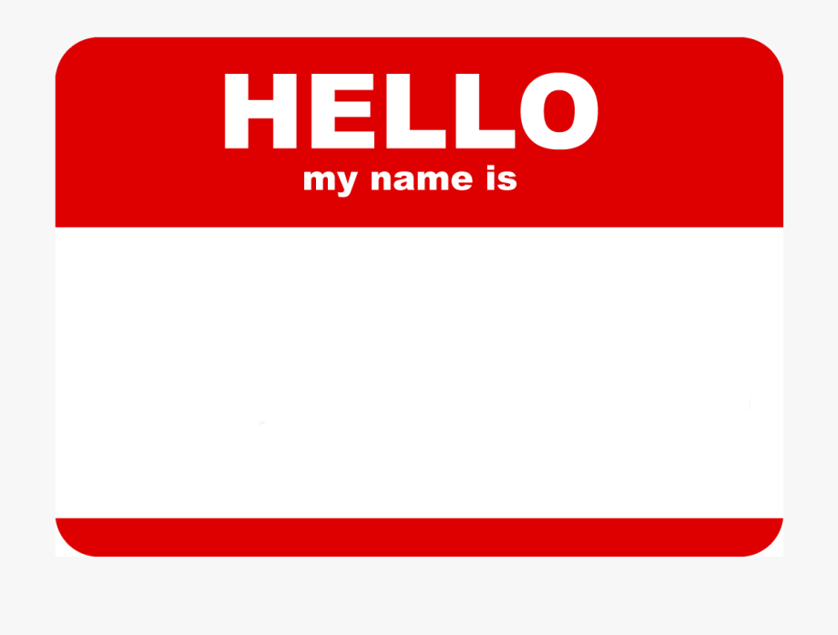 picture free download Clip art hello my. Name clipart.