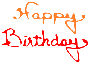vector transparent stock Birthday Names Clipart