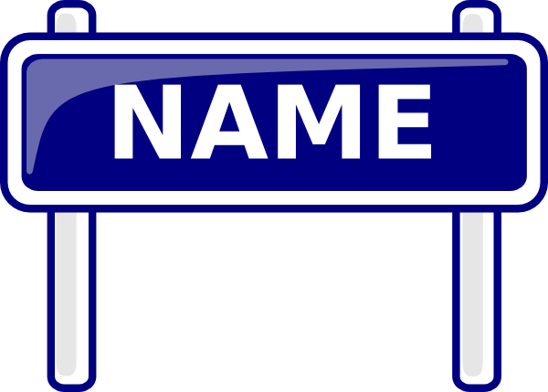 clip library stock Name clipart. Sign clip art at.
