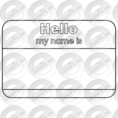 svg black and white stock Name outline for classroom. Tag clipart black and white