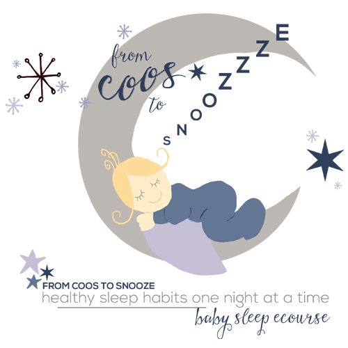 graphic black and white Coos to snooze baby. Nap clipart deep sleep.