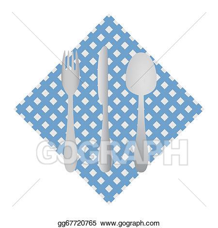 vector Vector stock cutlery on. Napkin clipart.