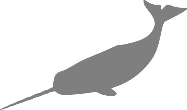 graphic freeuse download Narwhal Clip Art at Clker