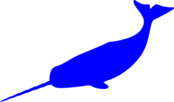 picture transparent stock Blue Narwhal Clip Art at Clker