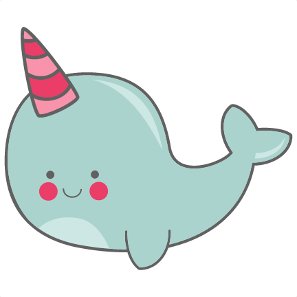 vector free download Narwhal clipart candy