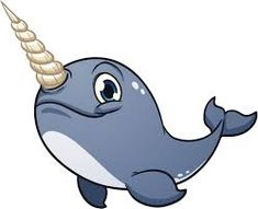 jpg freeuse download  best images clip. Narwhal clipart cartoon