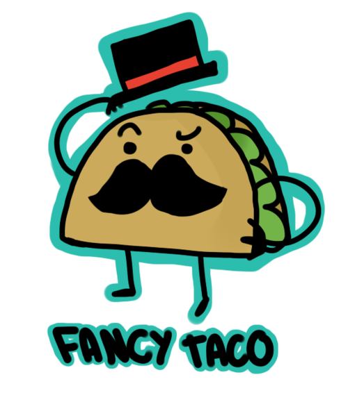 graphic free Fancy taco cartoon