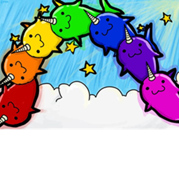 banner royalty free stock Rainbow narwhals