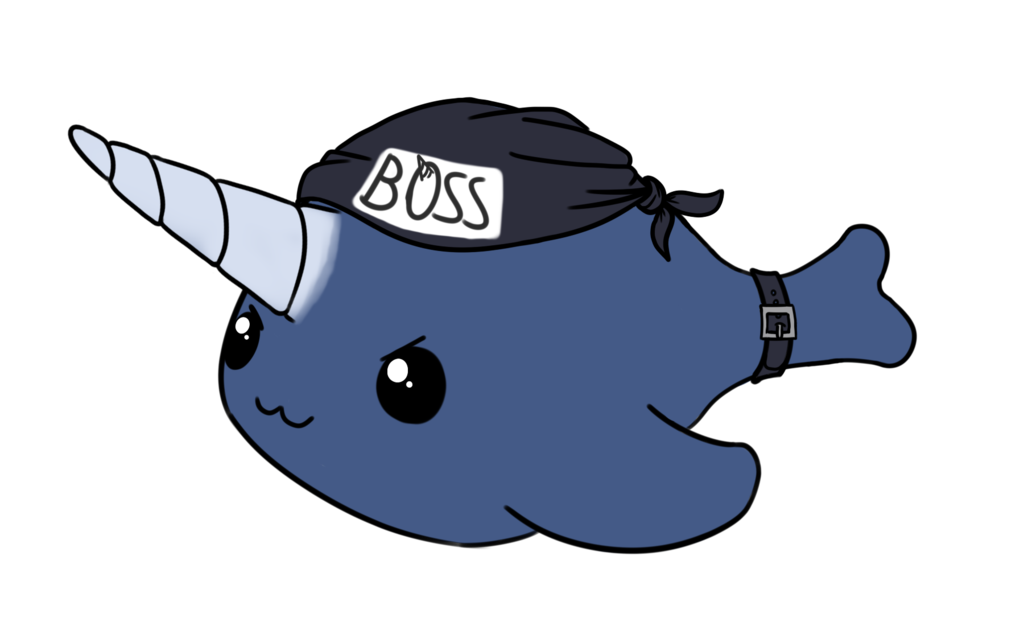 svg freeuse download Narwhal clipart kiwi