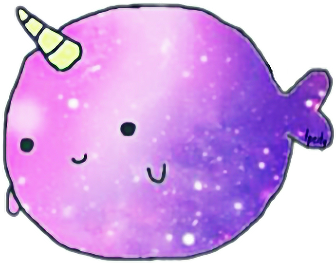 picture black and white narwhal cute kawaii