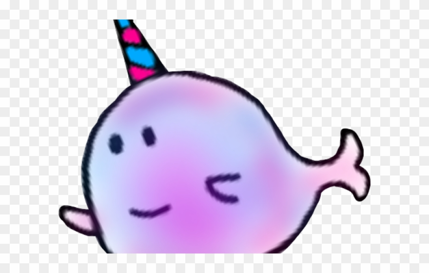 clip royalty free library Whale cartoon png download. Narwhal clipart purple.