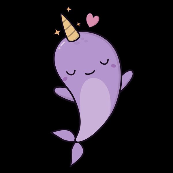 clip free stock Narwhal clipart purple. Narwhals are awesome and.