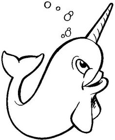 graphic black and white stock Narwhal clipart swag. Monodon monoceros unicorn whale.