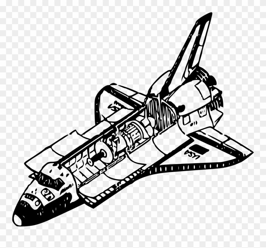 clipart royalty free stock Vector aviation spaceship nasa. Drawing spaceships space shuttle