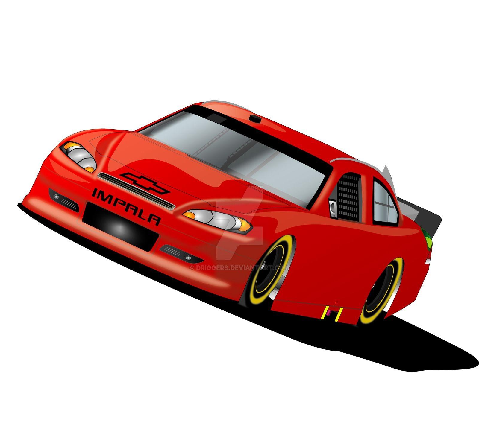 vector stock Nascar clipart red. .