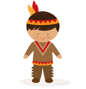 svg library Thanksgiving boy svg scrapbook. Native american clipart