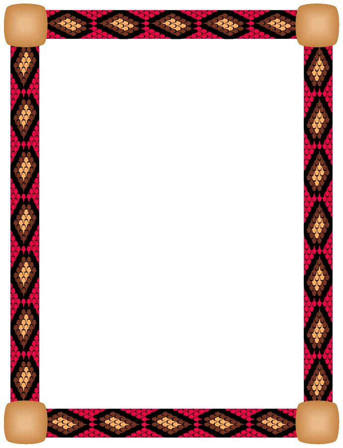 clip black and white stock Frames corners . Native american clipart borders