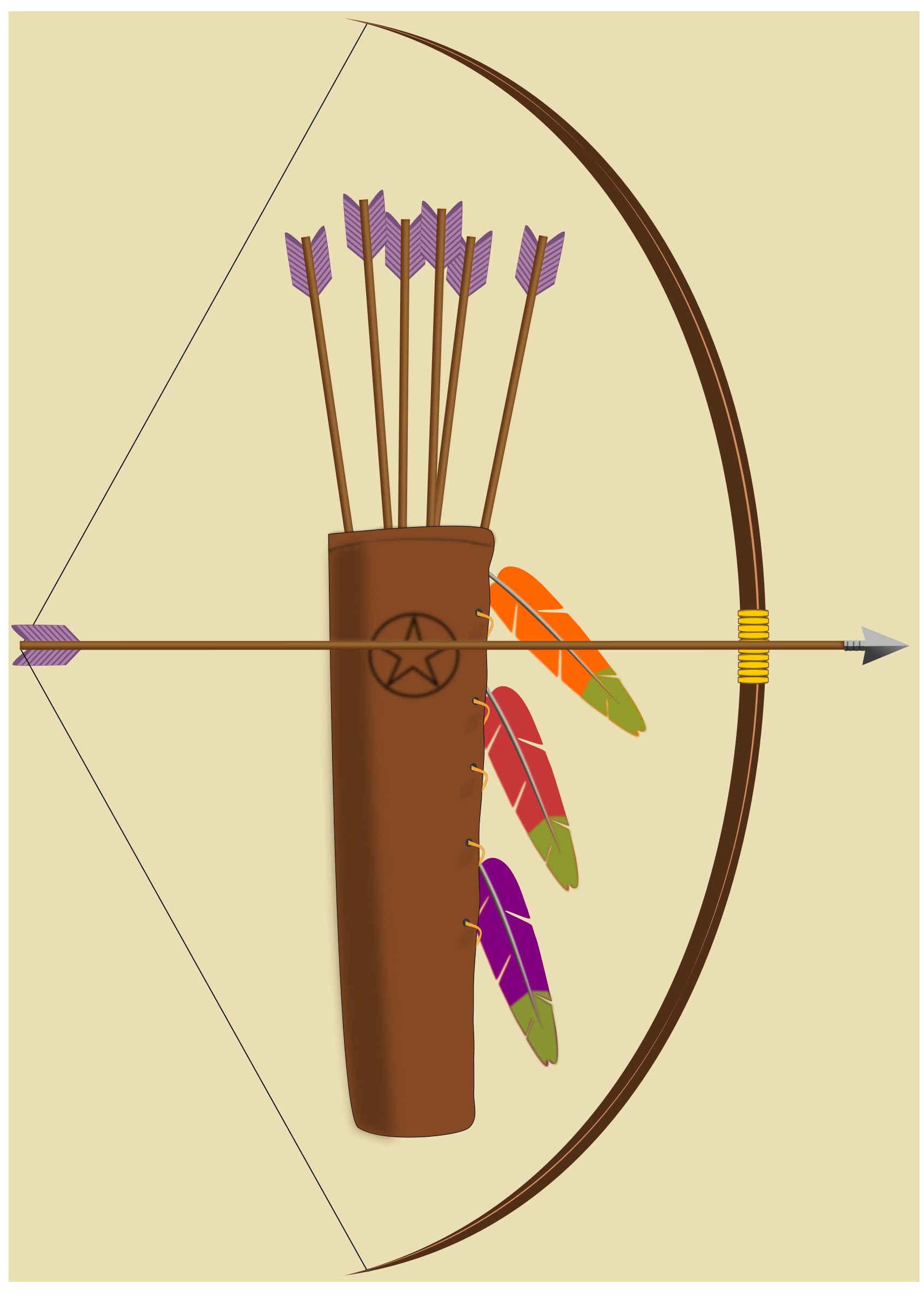 jpg free download Quiver big image png. Clipart bow and arrow