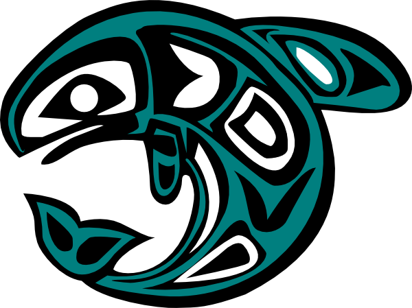 free download Vector dolphin indigenous art. Native american salmon symbol