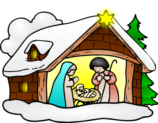 jpg transparent download Manger clipart celebration. Free nativity silhouette panda.