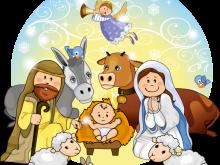 clip art transparent stock Christmas crib clip art. Nativity clipart.