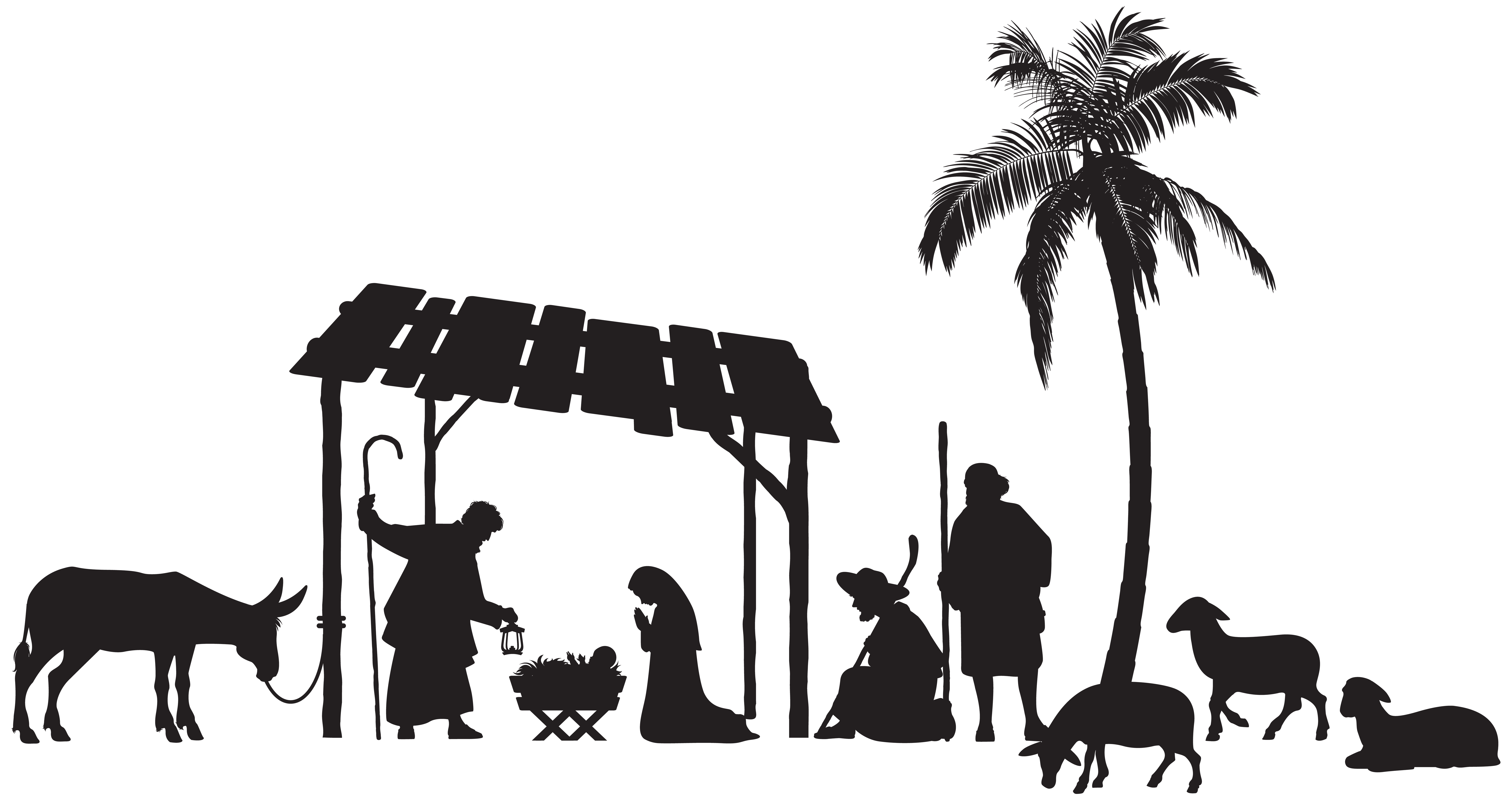 jpg download Scene silhouette png clip. Nativity clipart.