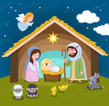 picture royalty free stock Nativity clipart. Christmas
