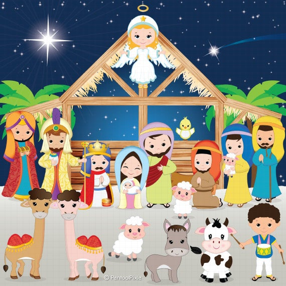 png library library Clip art christmas jesus. Nativity clipart.