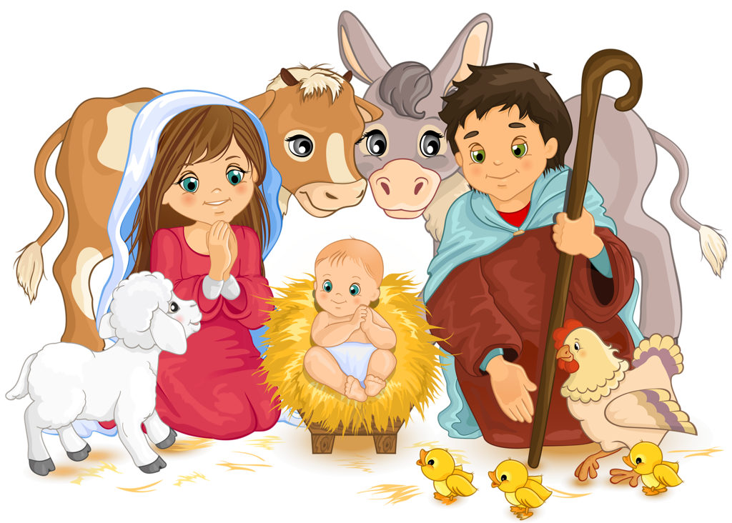graphic free library  png clip art. Nativity clipart carol service.
