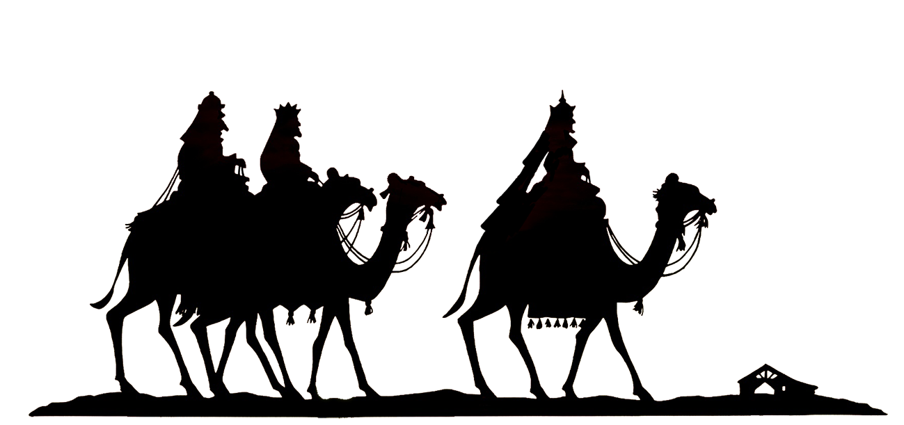 clip art black and white Wise Men Silhouette at GetDrawings