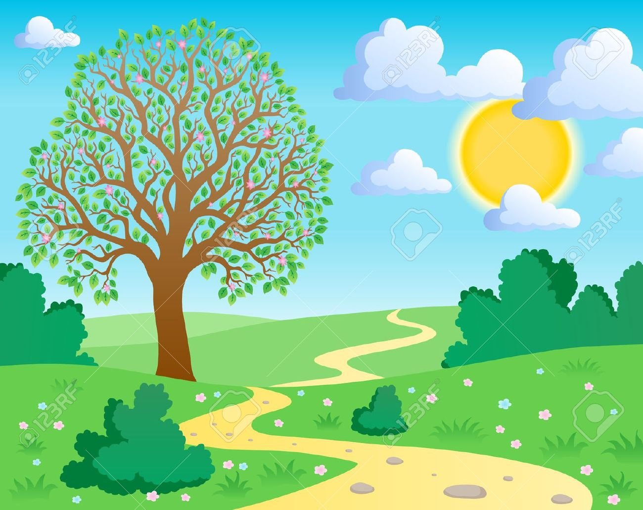 svg royalty free download Free scene cliparts download. Nature clipart.
