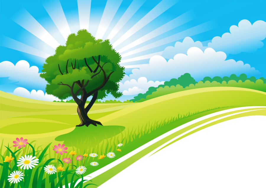 picture royalty free library Nature clipart. Drawing of family landscape.