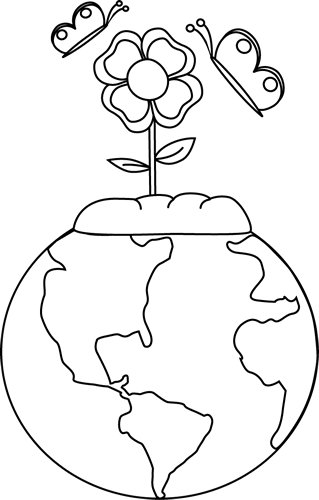 free Black and White Earth and Nature Clip Art