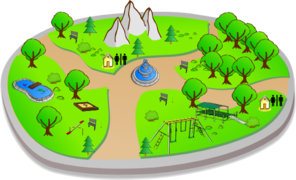svg royalty free library Country scene clip art. Nature clipart park