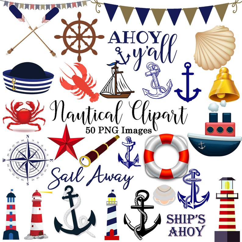 vector transparent download Nautical clipart. Instant download anchor png
