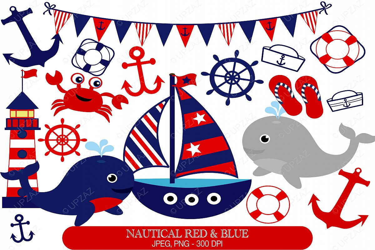 image freeuse library Nautical clipart. Set