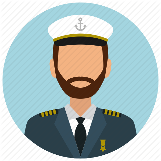clipart black and white Of a ship png. Nautical clipart captain hat.