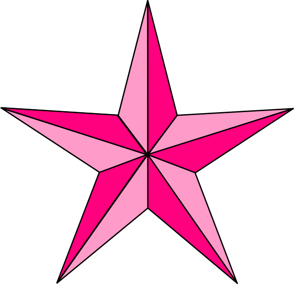 vector freeuse Pink Nautical Star Clip Art at Clker
